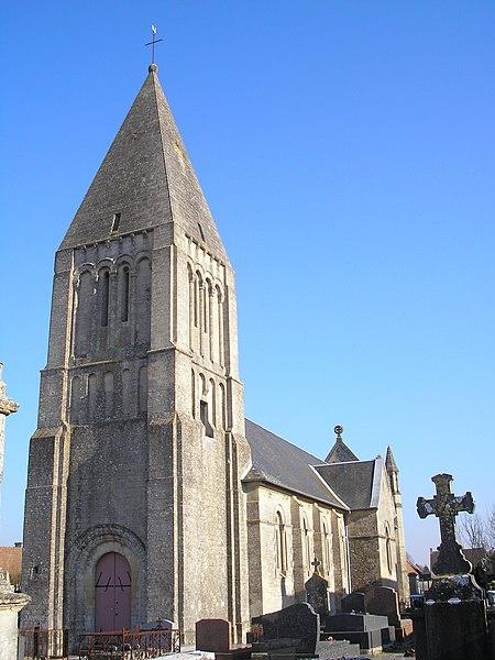 Photo du Monument Historique Eglise situé à Basly