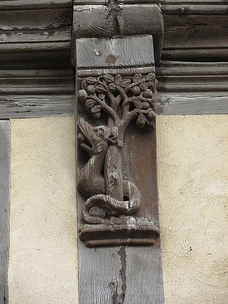Photo du Monument Historique Maison dite d'Adam et Eve situé à Bayeux