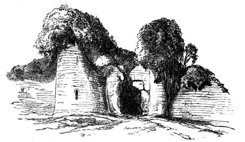 Photo du Monument Historique Restes du château situé à Fauguernon