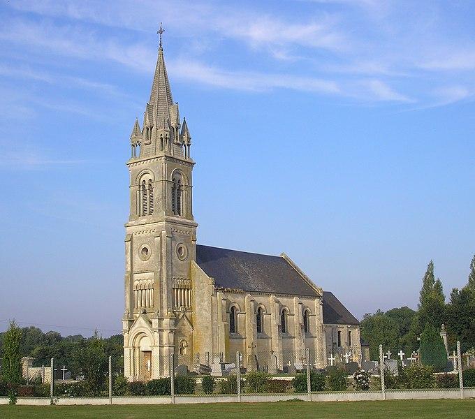 Photo du Monument Historique Eglise Saint-Aubin situé à Fontenay-le-Pesnel