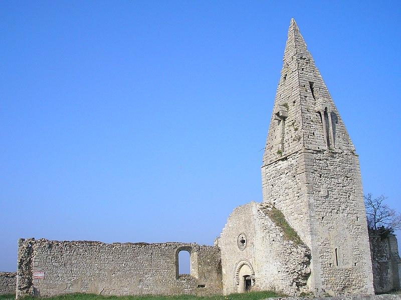 Photo du Monument Historique Ancienne église d'Engranville situé à Formigny