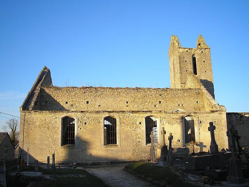Photo du Monument Historique Ruines de l'ancienne église situé à Juaye-Mondaye