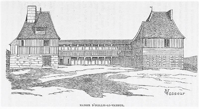 Photo du Monument Historique Manoir des Mathurins situé à Lisieux