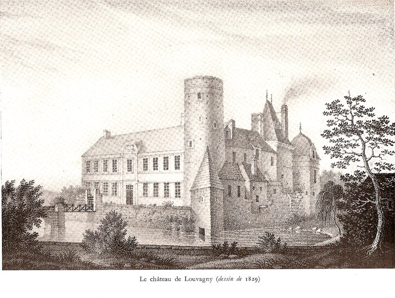 Photo du Monument Historique Château de Louvagny situé à Louvagny