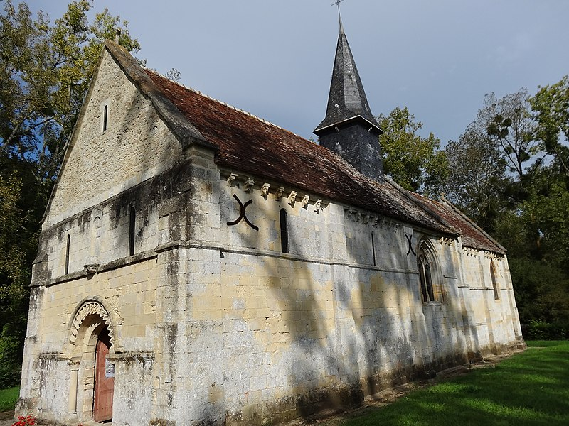 Photo du Monument Historique Ancienne église de Sainte-Marie-aux-Anglais situé à Le Mesnil-Mauger
