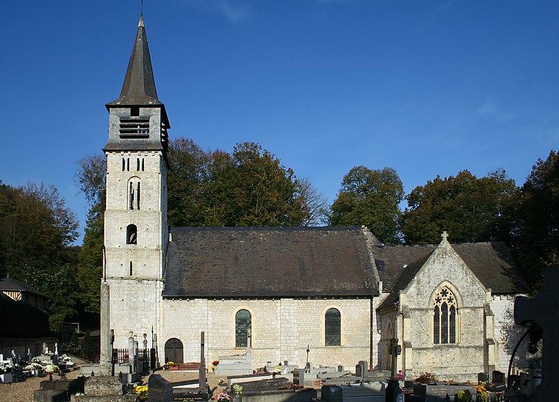 Photo du Monument Historique Eglise Saint-André situé à Saint-André-d'Hébertot