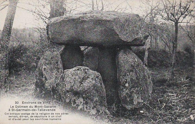 Photo du Monument Historique Dolmen de la Loge aux Sarrazins situé à Saint-Germain-de-Tallevende-la-Lande-Vaumont