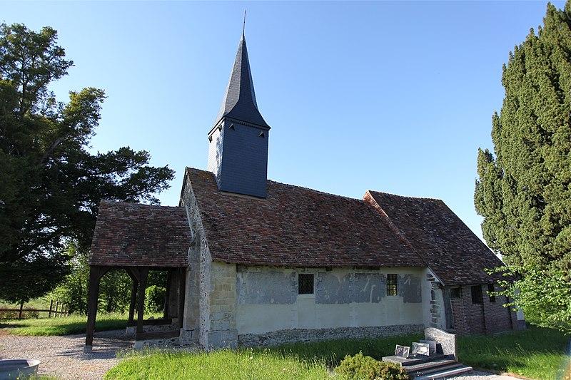 Photo du Monument Historique Eglise situé à Saint-Martin-du-Mesnil-Oury