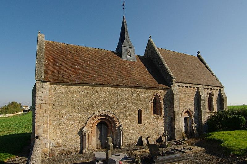 Photo du Monument Historique Eglise d'Aizy situé à Soumont-Saint-Quentin