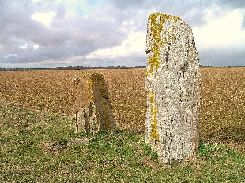 Photo du Monument Historique Trois menhirs dits Menhirs des Longrais situé à Soumont-Saint-Quentin