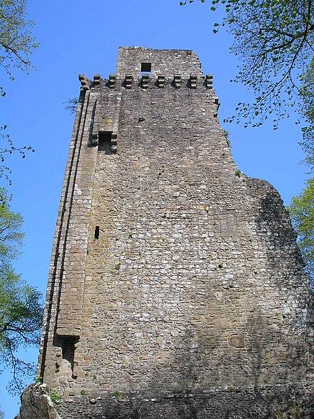 Photo du Monument Historique Ruines du donjon situé à Vire