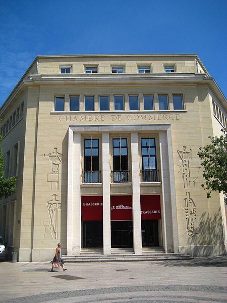 Photo du Monument Historique Ancienne chambre de commerce et d'industrie situé à Caen