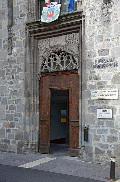 Photo du Monument Historique Hôtel de Malras (nouvelle mairie) situé à Aurillac