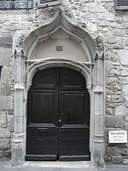 Photo du Monument Historique Maison Capelle situé à Aurillac