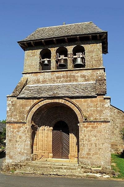 Photo du Monument Historique Eglise Saint-Victor et Sainte-Madeleine de Chastel-Marlhac situé à Monteil (Le)