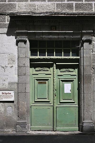 Photo du Monument Historique Hôtel de Cébié situé à Aurillac
