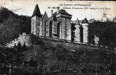 Photo du Monument Historique Château d'Anterroches situé à Murat