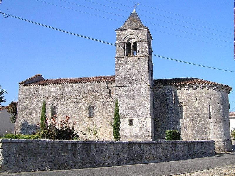 Photo du Monument Historique Eglise Saint-Trojan situé à Boutiers-Saint-Trojan