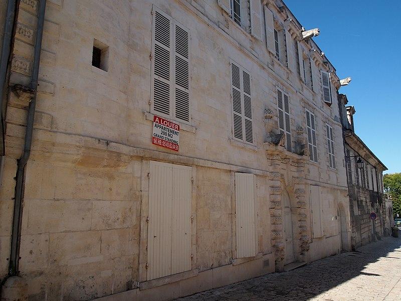 Photo du Monument Historique Ancien hôtel Brunet du Boccage situé à Cognac