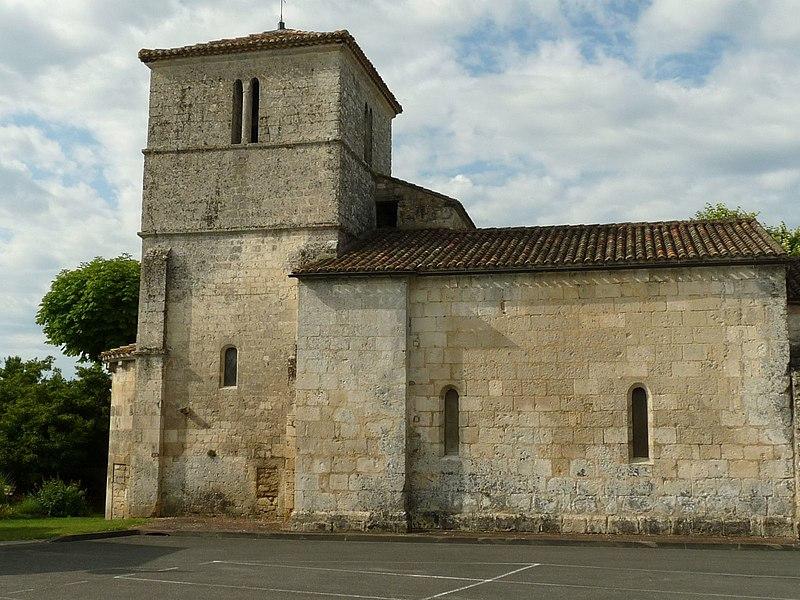 Photo du Monument Historique Eglise Saint-Vincent situé à Puymoyen