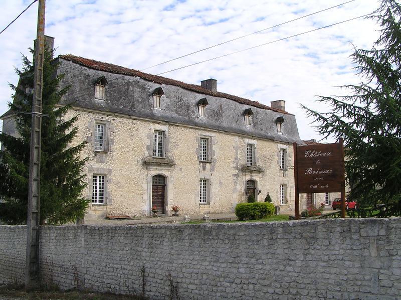 Photo du Monument Historique Château de Roissac situé à Angeac-Champagne