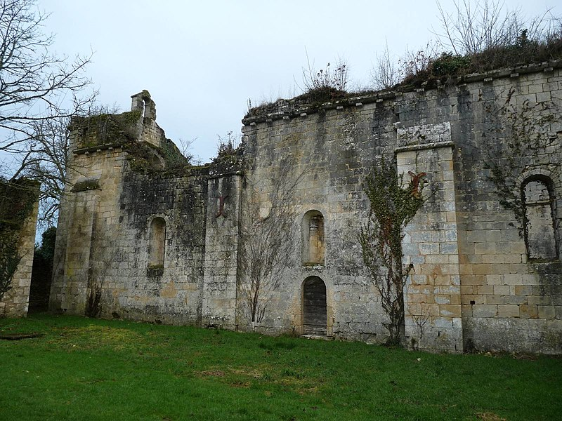 Photo du Monument Historique Ancienne abbaye de Fontaine Vive, ou de Grosbot situé à Charras
