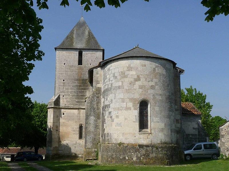 Photo du Monument Historique Eglise Saint-Martin-de-Louzac situé à Louzac-Saint-André