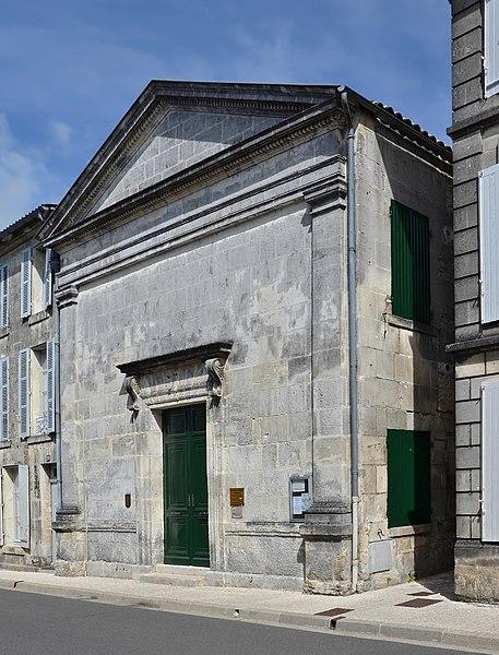 Photo du Monument Historique Temple protestant situé à Jarnac