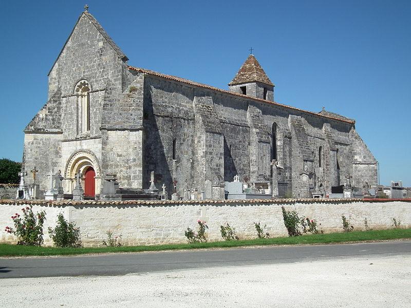 Photo du Monument Historique Eglise Saint-Eutrope situé à Agudelle