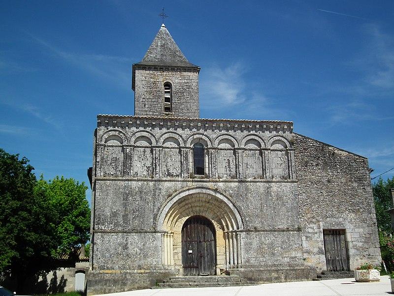 Photo du Monument Historique Eglise Saint-Martin du Petit-Niort situé à Mirambeau