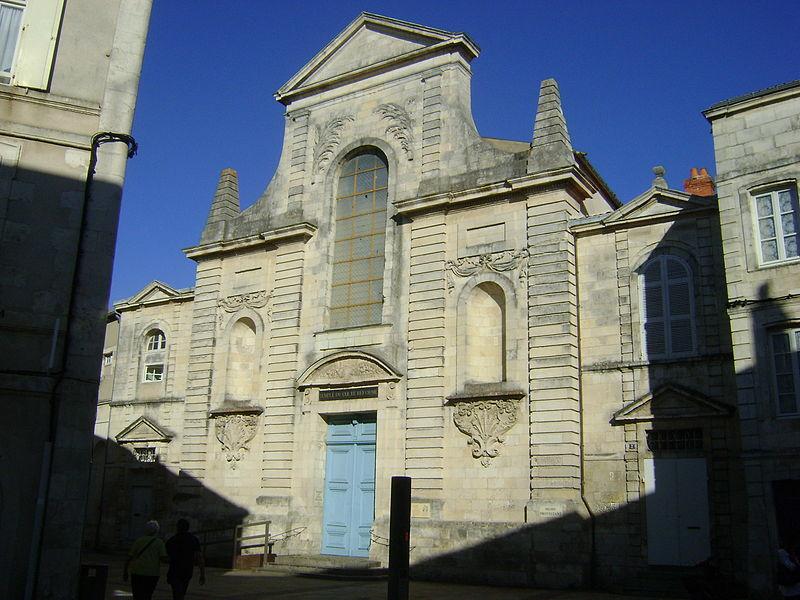 Photo du Monument Historique Temple protestant situé à Rochelle (La)