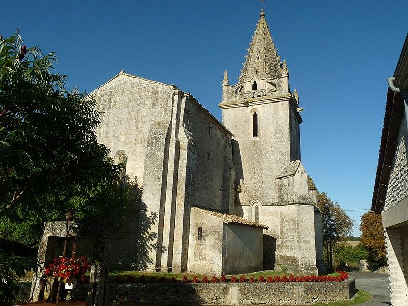 Photo du Monument Historique Eglise Saint-Dizant situé à Saint-Dizant-du-Bois