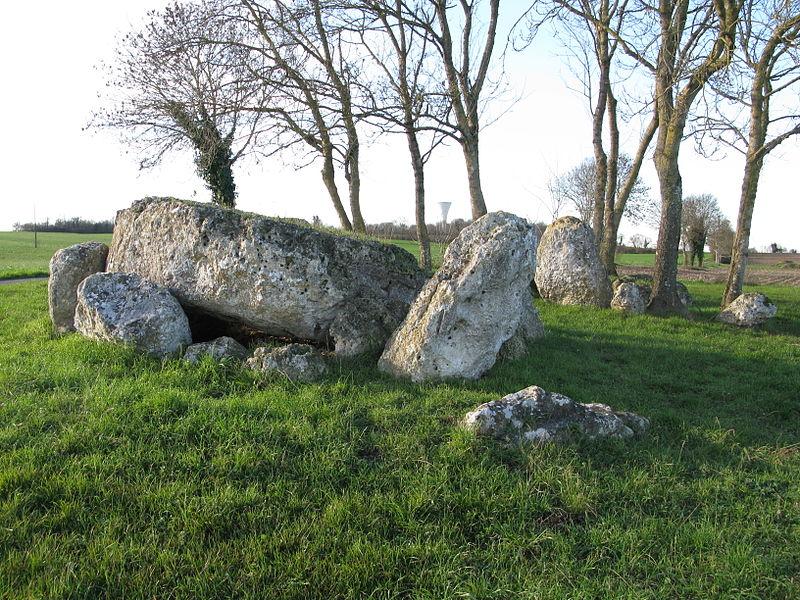 Photo du Monument Historique Ensemble mégalithique de la Pierre Levée situé à La Vallée