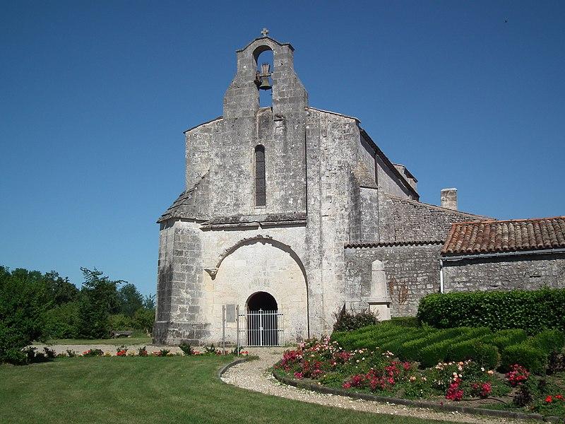 Photo du Monument Historique Eglise Saint-Martial situé à Saint-Martial-de-Vitaterne