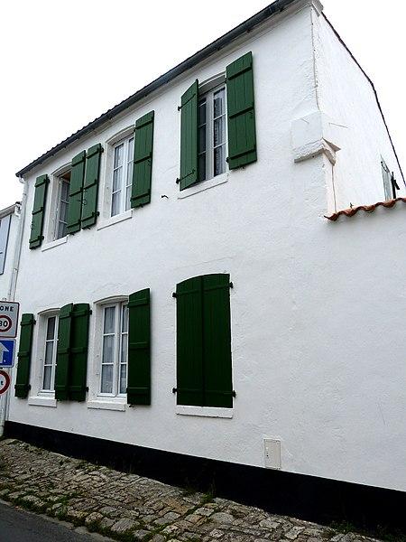 Photo du Monument Historique Maison des aïeules de Pierre Loti situé à Saint-Pierre-d'Oléron