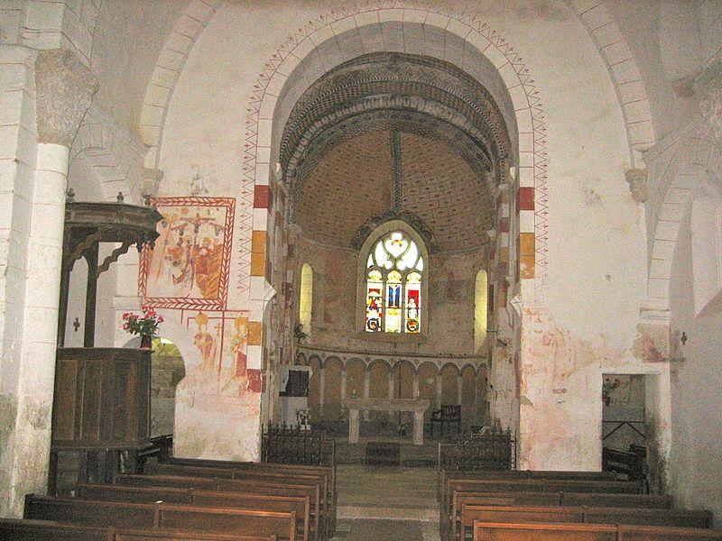 Photo du Monument Historique Eglise Saint-Georges, anciennement Saint-Janvier situé à Saint-Jeanvrin