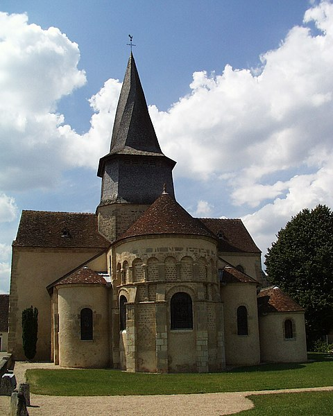 Photo du Monument Historique Eglise collégiale Saint-Austrégésile situé à Saint-Outrille