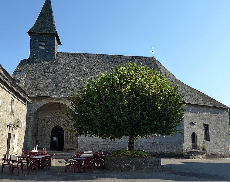 Photo du Monument Historique Eglise Saint-Jacques situé à Chaumeil