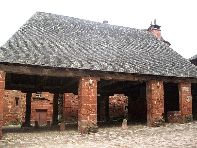 Photo du Monument Historique Halle situé à Collonges-la-Rouge