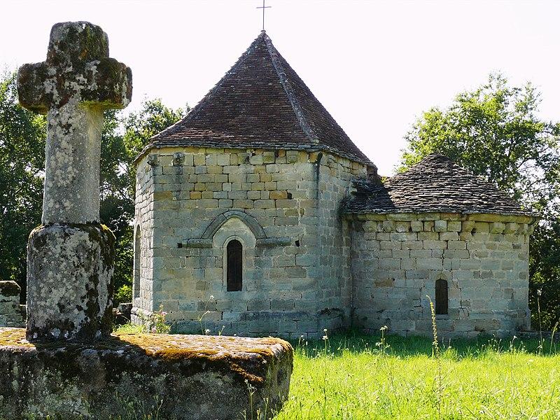 Photo du Monument Historique Ancienne église Saint-Hilaire situé à Curemonte