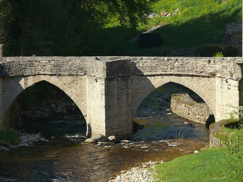 Photo du Monument Historique Pont ancien sur la Vézère situé à Treignac
