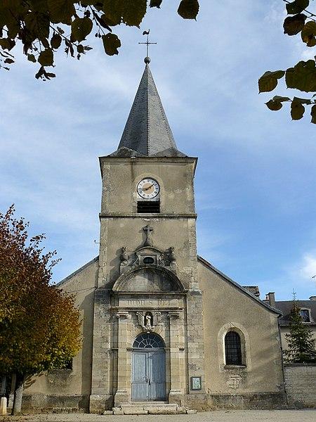 Photo du Monument Historique Eglise à l'exclusion de la façade et du clocher situé à Autricourt