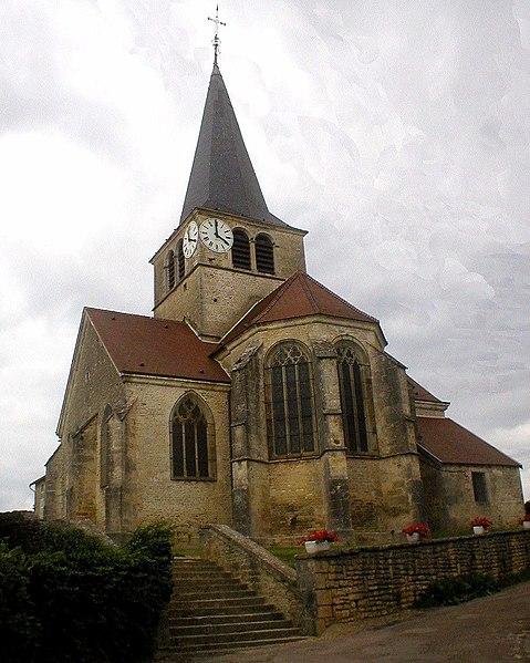 Photo du Monument Historique Eglise Saint-Hippolyte situé à Brion-sur-Ource