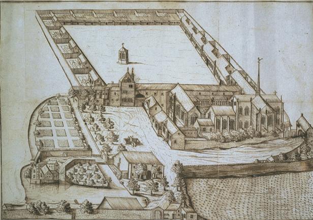 Photo du Monument Historique Ancienne chartreuse de Champmol, actuellement centre psychothérapique de Dijon situé à Dijon