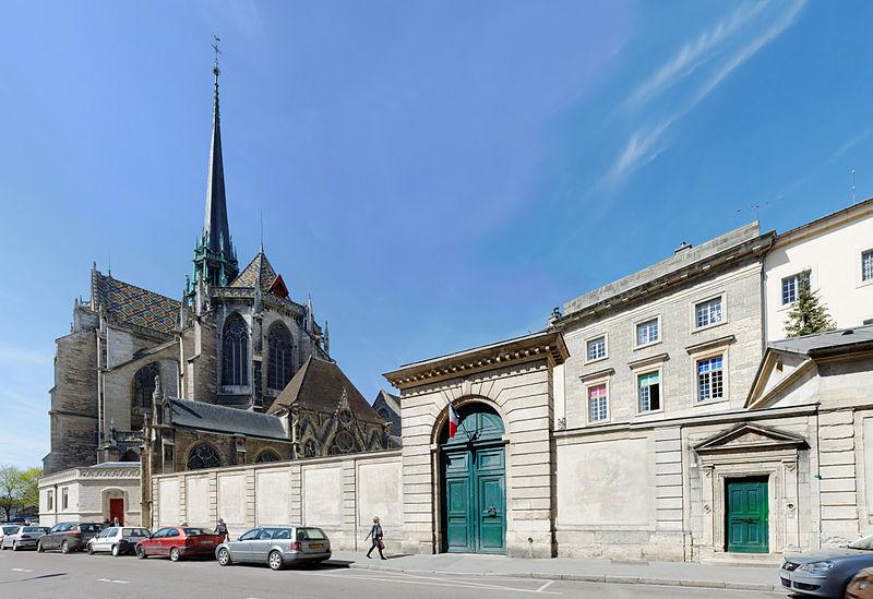 Photo du Monument Historique Ancien palais abbatial Saint-Benigne, puis épiscopal, actuellement école nationale des Beaux-Arts situé à Dijon