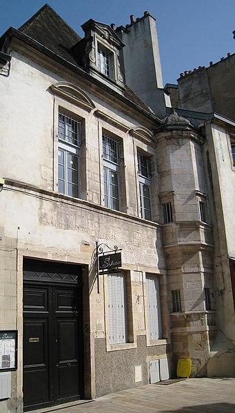 Photo du Monument Historique Hôtel de Talmay, anciennement dit hôtel des Barres situé à Dijon