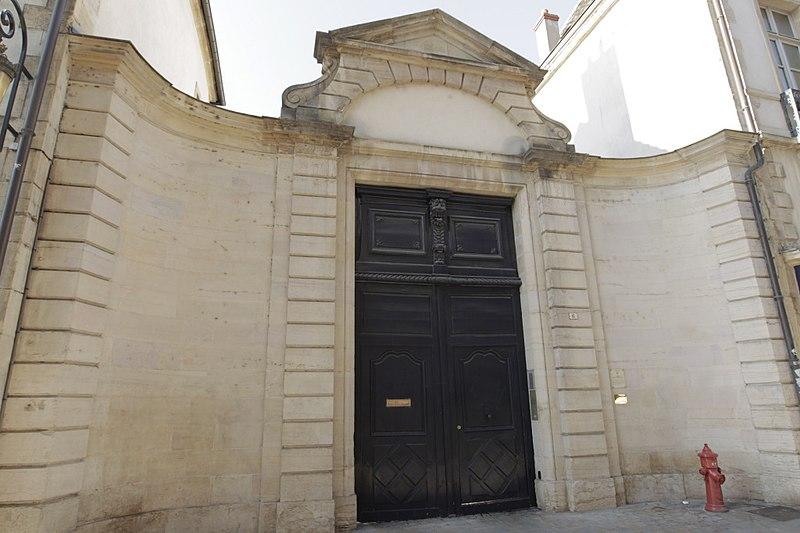 Photo du Monument Historique Hôtel de Bretagne-Blancey situé à Dijon