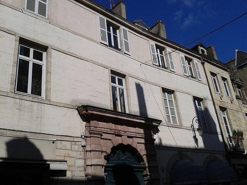 Photo du Monument Historique Hôtel de Gissey situé à Dijon