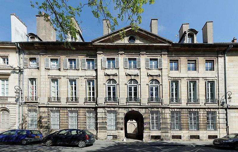 Photo du Monument Historique Hôtel Montillet situé à Dijon