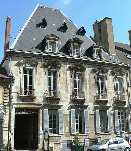 Photo du Monument Historique Hôtel Perreney de Baleure situé à Dijon